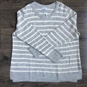 Striped Cozy Crew Neck Sweater